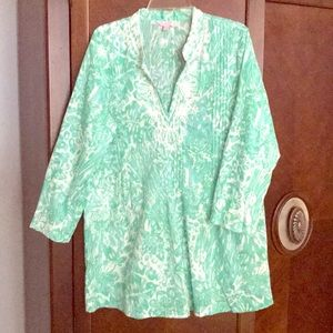 Lilly Pulitzer beaded tunic. Perfect condition XL